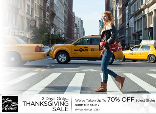 Shop the Black Friday and Thanksgiving Sale Online at Saks Fifth Avenue! Big Savings on Designer Items
