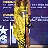 Beyoncé Stuns in Yellow and Hugs Kim Kardashian at the BET Awards