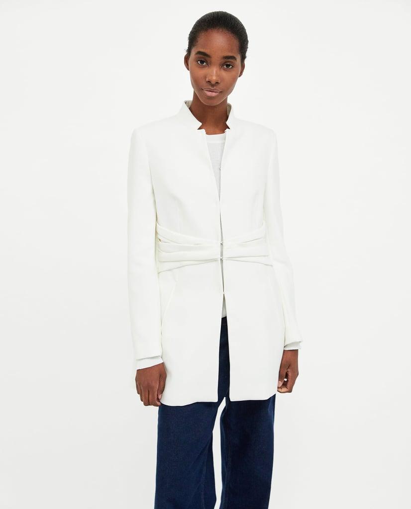 Zara Frock Coat With Gathered Waist