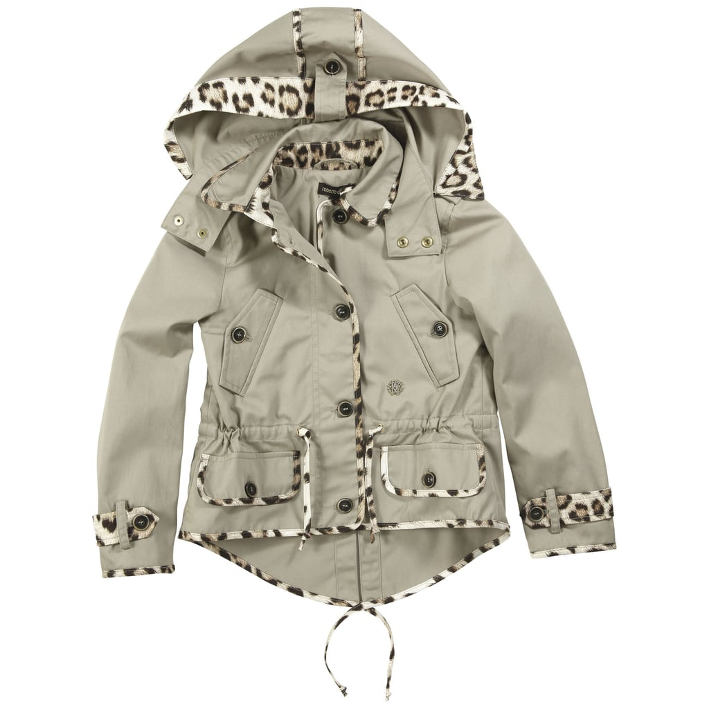 Roberto Cavalli Kids Beige Trenchcoat With a Removable Hood ($309)