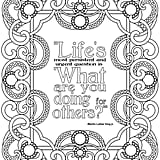 Get the coloring page: What Are You Doing For Others?