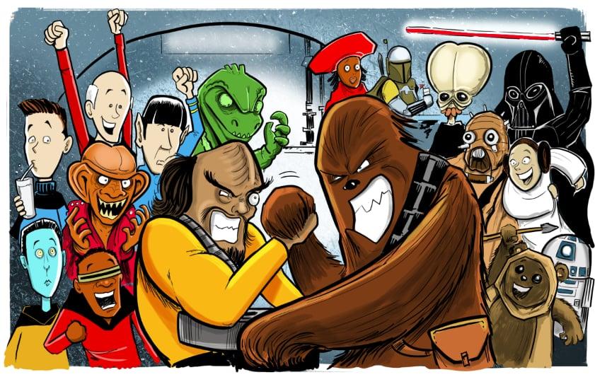 """Worf vs. Chewbacca,"" Len Peralta"