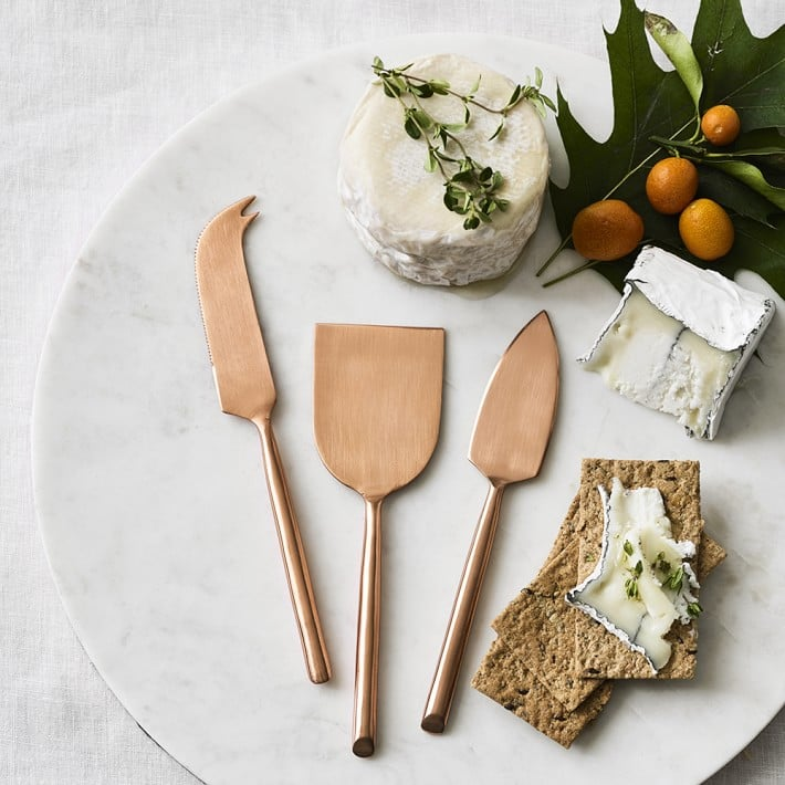 William Sonoma Copper Cheese Knives, Set of 3 ($40)