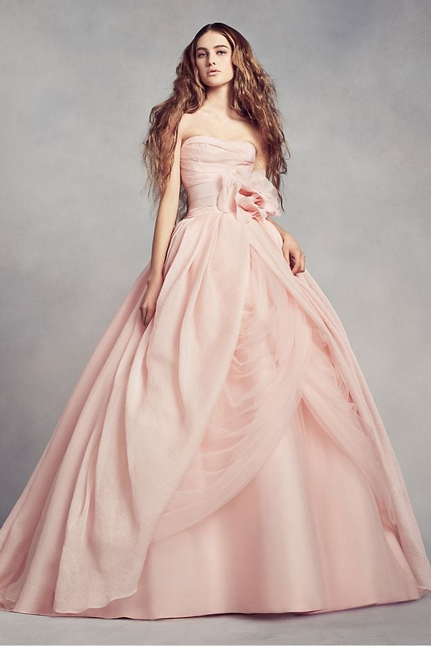 White by Vera Wang Textured Organza Wedding Dress | Pink Wedding ...