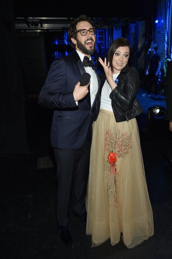 Josh Groban and Rachel Bloom