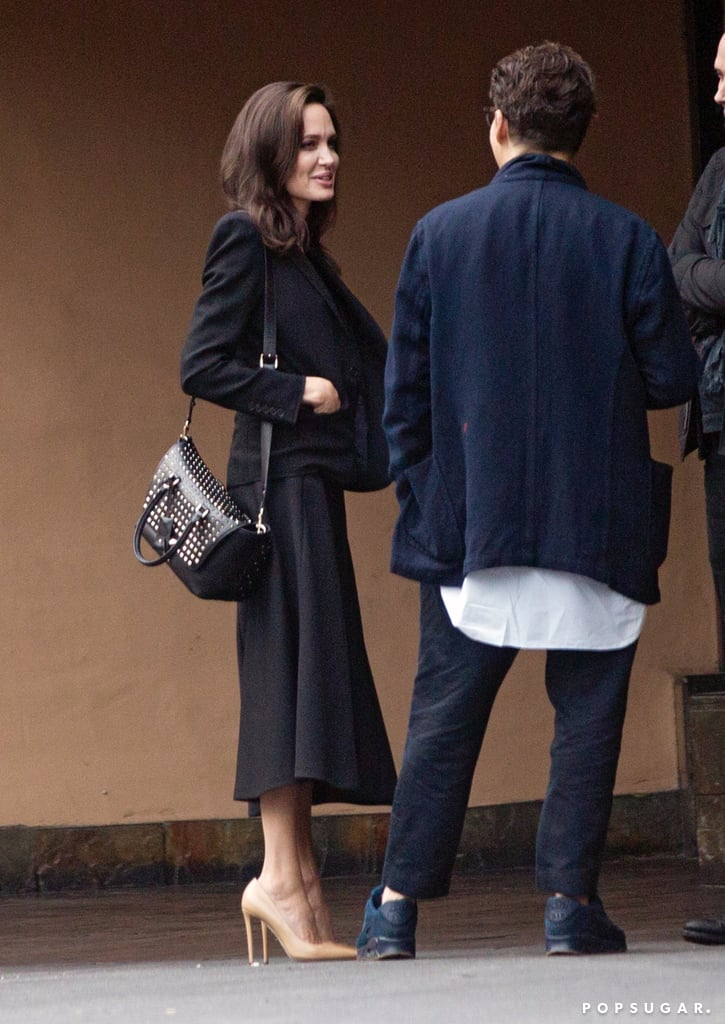 Angelina Jolie Studded Valentino Bag | POPSUGAR Fashion Angelina Jolie's Kids