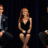 Alec Baldwin, Isla Fisher, and Chris Pine were together at a Q&A session for Rise of the Guardians.