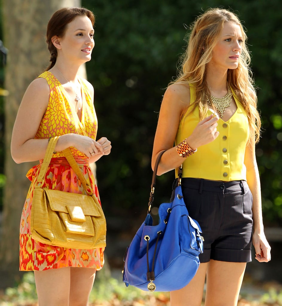 Blake Lively and Leighton Meester Filming Gossip Girl in New York
