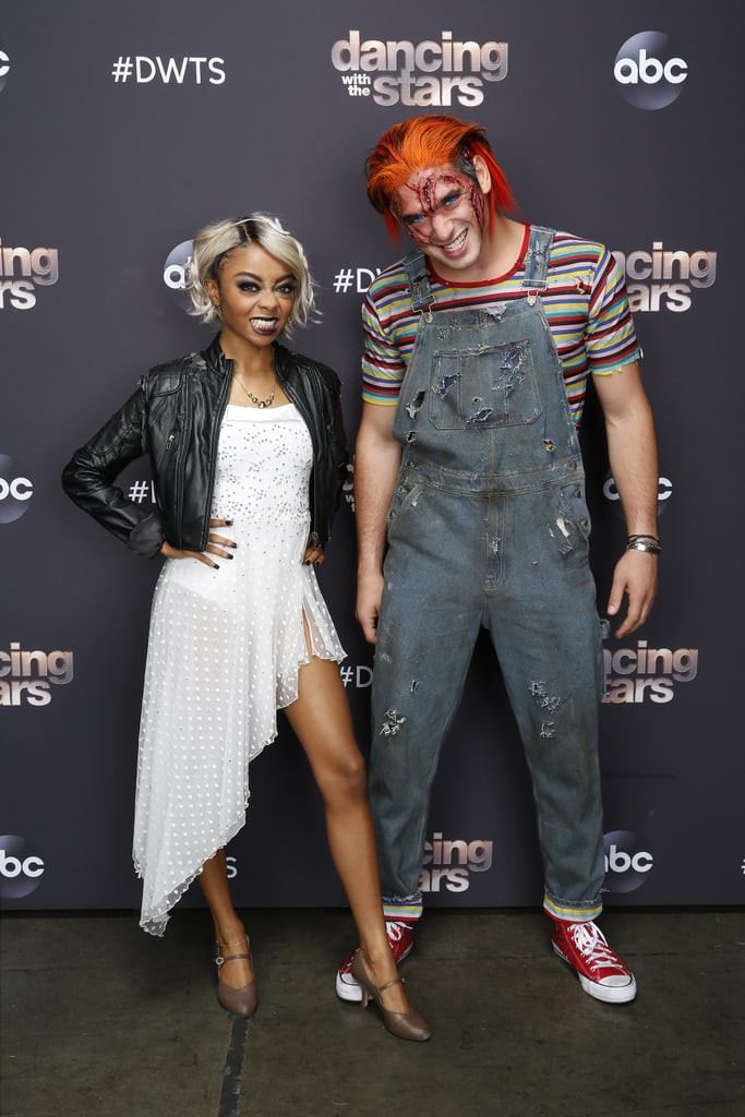 Skai Jackson and Alan Bersten as Tiffany Valentine and Chucky