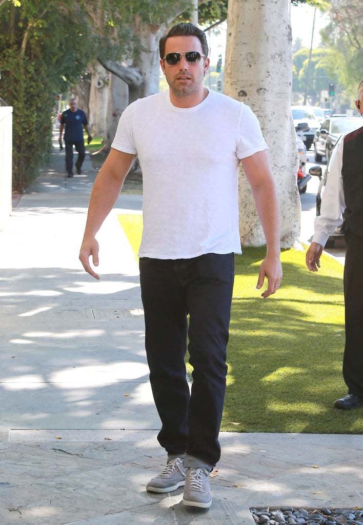 Ben Affleck wore a white t-shirt around LA on Wednesday afternoon.