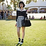 When it comes to Coachella, black and white is never boring.