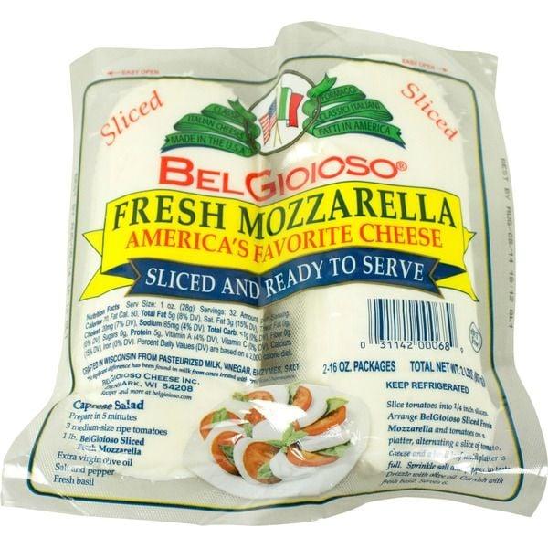 BelGioioso Cheese Mozzarella Fresh Slices ($10 per pound)