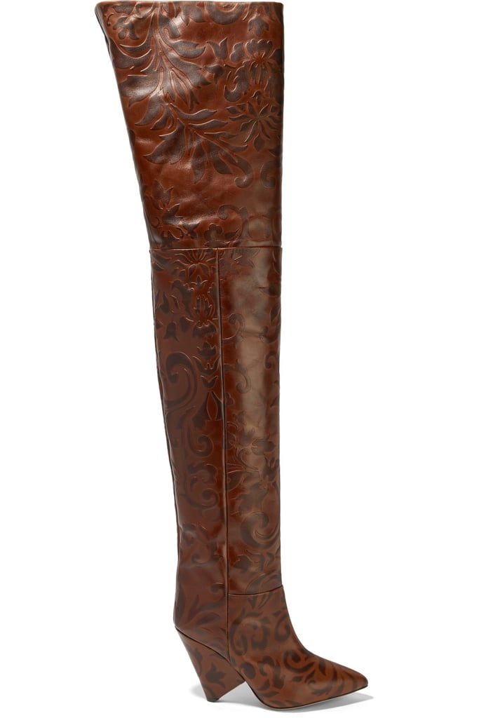 Isabel Marant Lostynn Embossed-Leather Boots
