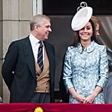 Pictured: Prince Andrew and Kate Middleton.