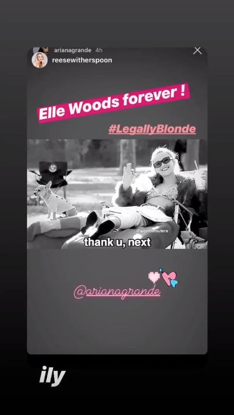 Reese Witherspoon Legally Blonde Response to Ariana Grande