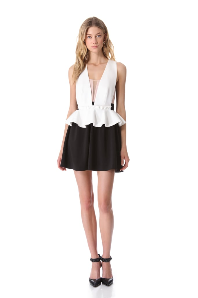 Forget whatever frock you were planning on wearing to your next formal event and buy this one instead. The girlie peplum silhouette, loose mini, and sexy V-neck make this Three Floor style ($308) worth every penny.