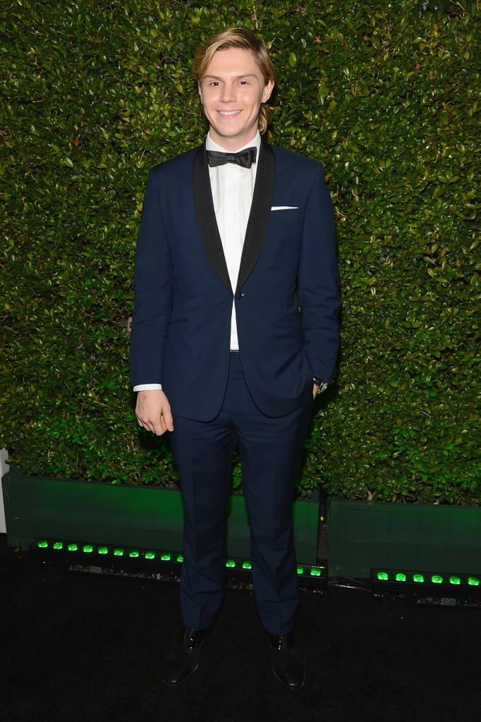Evan Peters looked dapper in a bow tie.