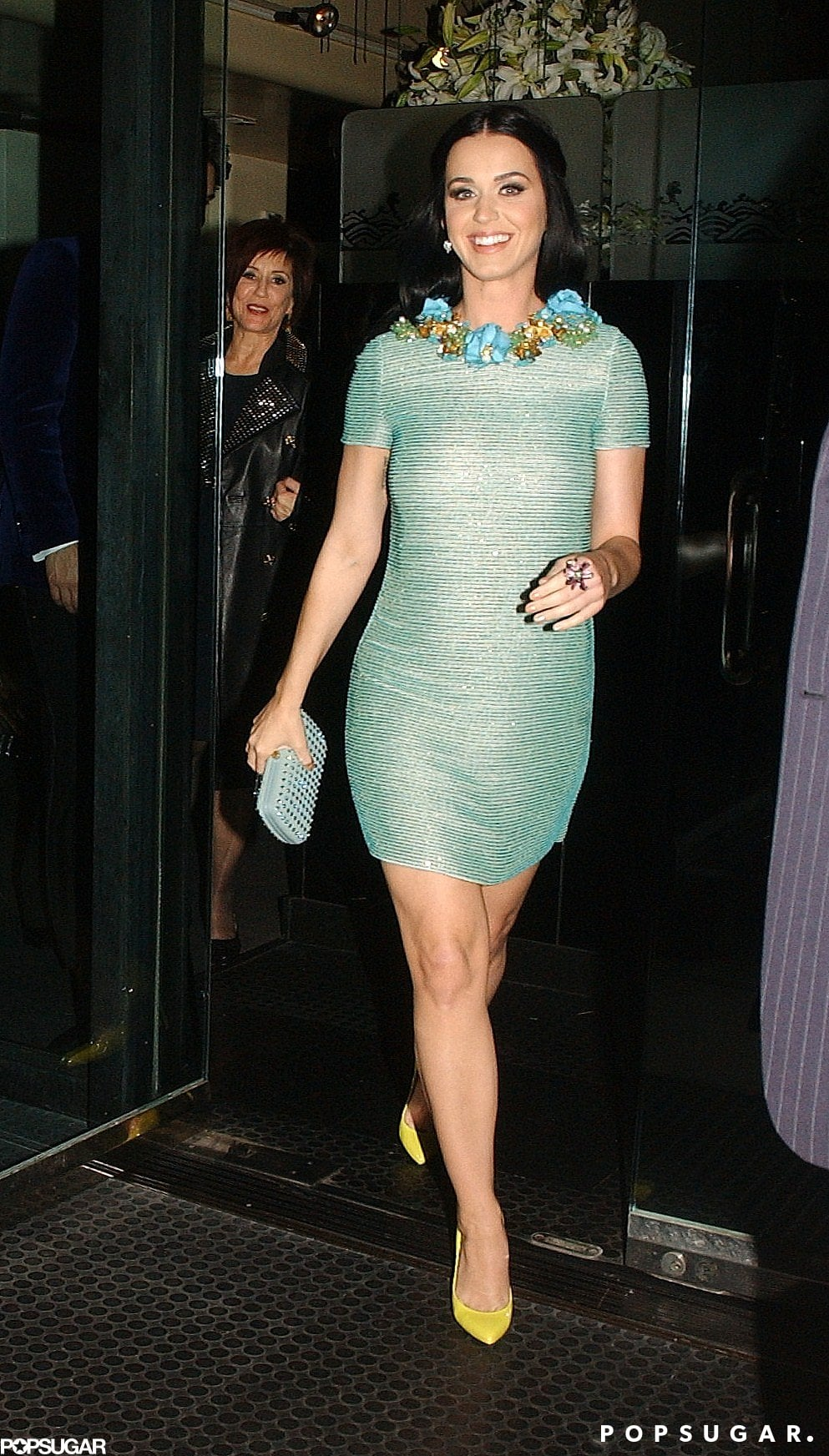 Katy Perry rocked a different mint number for the 2013 Grammy afterparties.