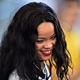 Rihanna was seen at the game.