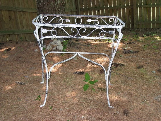 Before and After: a Pretty Patio Table