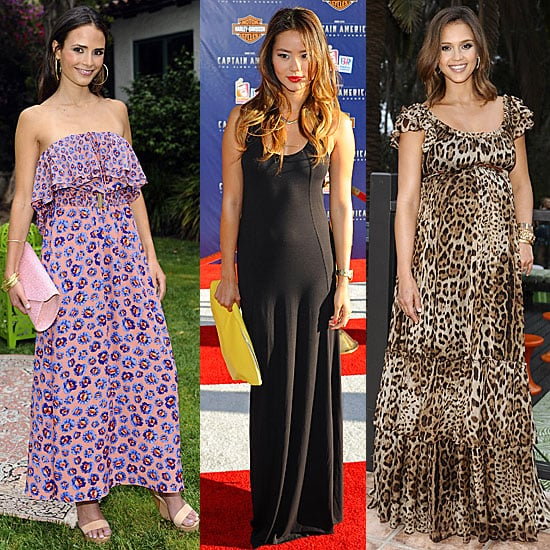 Celebrities Wearing Maxi Dresses | POPSUGAR Fashion