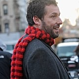 Adam Sandler showed off his scruff on the set of The Cobbler in NYC on Tuesday.