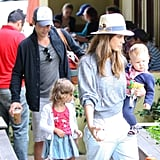 Jessica Alba, Cash Warren, Haven Warren, and Honor Warren were out in LA.