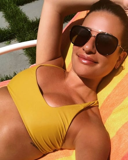 Lea Michele Yellow Bikini July 2018