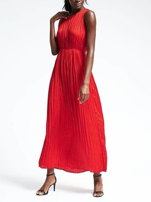 Gathered Pleat Maxi Dress ($148)