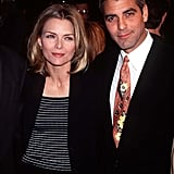 Michelle Pfeiffer and George Clooney stuck together at the One Fine Day premiere in LA in December 1996.