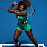 Serena Williams's Green Bodysuit at the Australian Open 2019