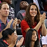 Kate Middleton watched Paralympic cycling with Prince William.