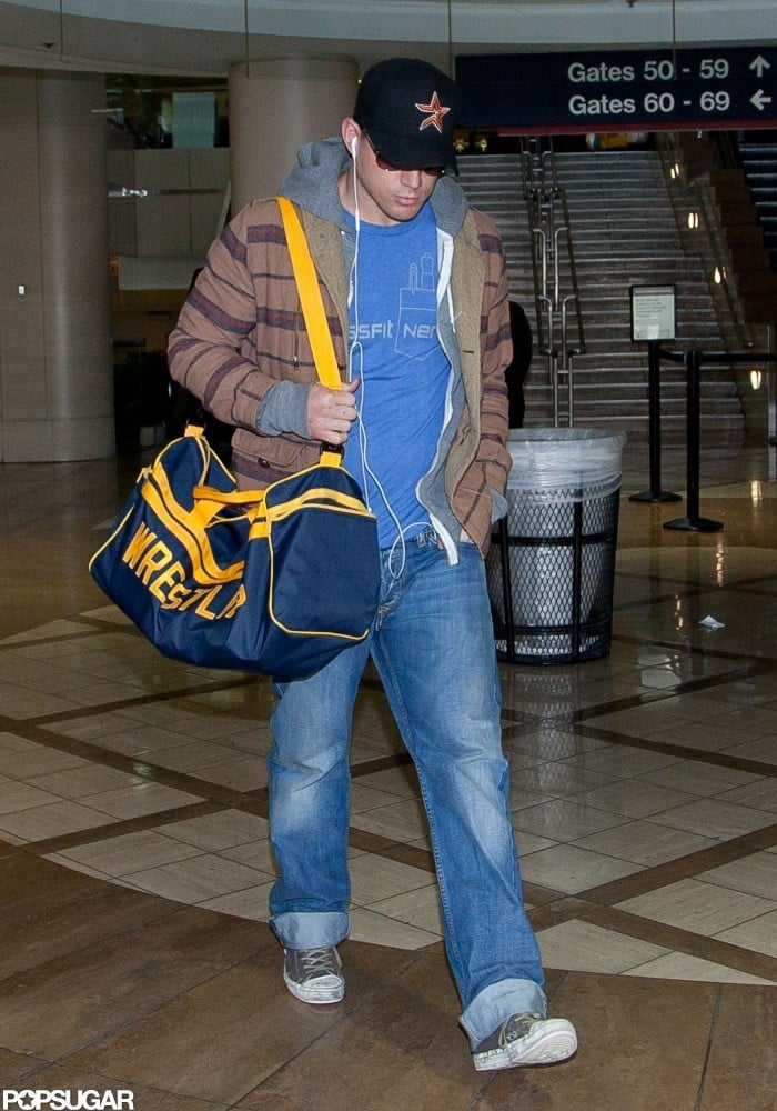 Channing Tatum headed home to family in LA.