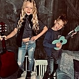 Jessica Simpson's Kids, Maxwell and Ace, Dressed as School of Rock Characters