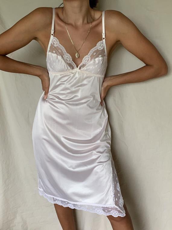 LiluLoveVintage Vintage Lace Slip Dress