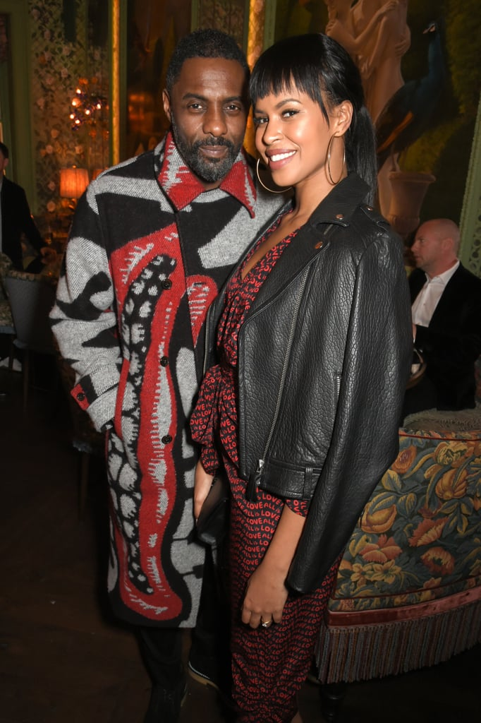 Idris Elba and Fiancé Sabrina Dhowre at Fashion Week 2018
