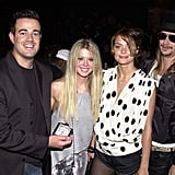 Carson Daly, Tara Reid, Jaime King, and Kid Rock, 2000