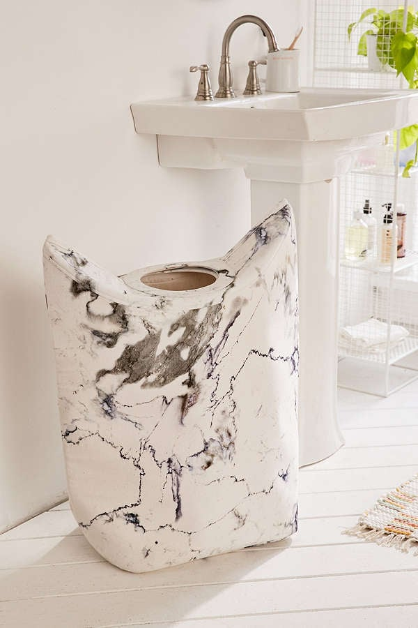 Urban Outfitters Marble Standing Laundry Bag Hamper Bathroom - Bathroom outfitters