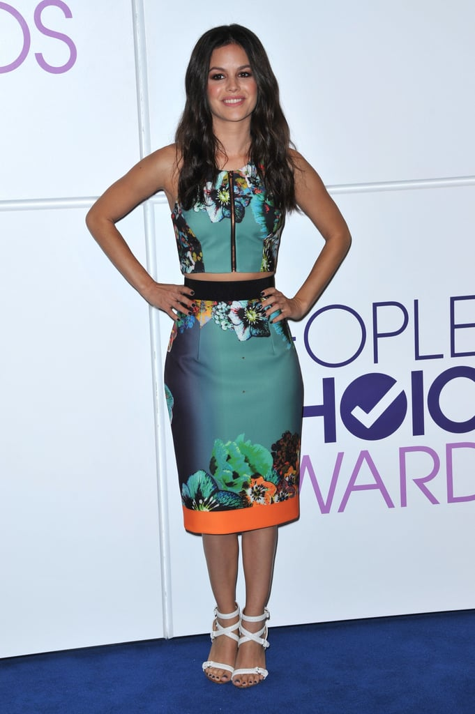 Rachel Bilson's cropped Milly ensemble and Givenchy shoes