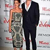 Kristen Stewart and Chris Hemsworth smiled at a Snow White and the Huntsman screening in Sydney.
