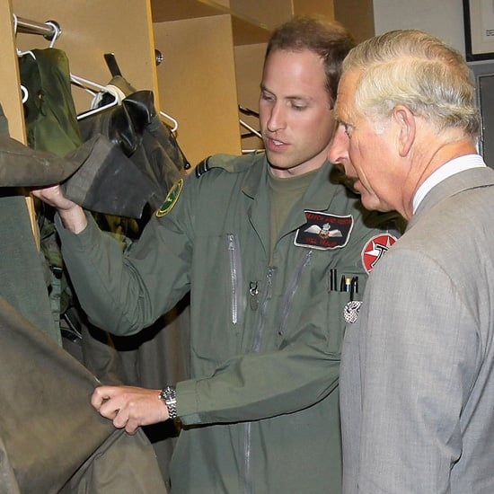 Prince William and Prince Charles Pictures at Royal Air Force Valley Base