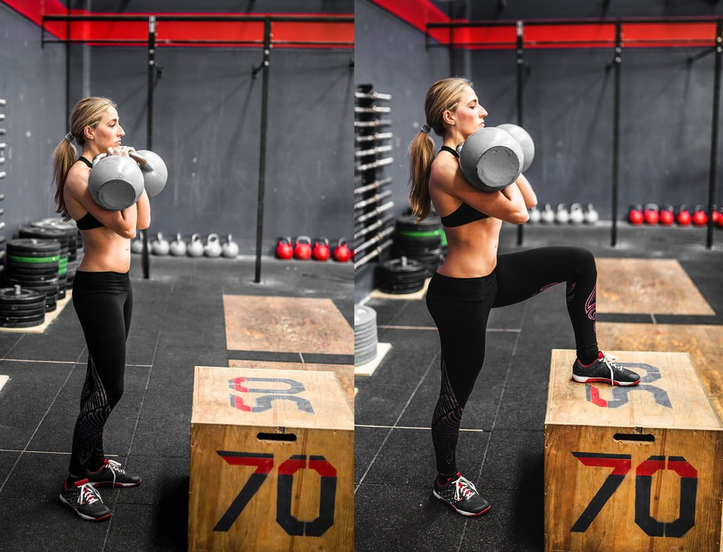 Dumbbell Box Step Up Butt Exercises With Weight