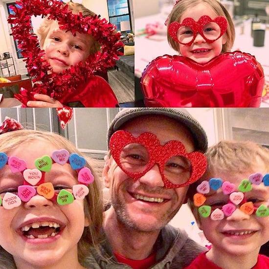 Neil Patrick Harris Valentine's Day Instagram With Kids 2018