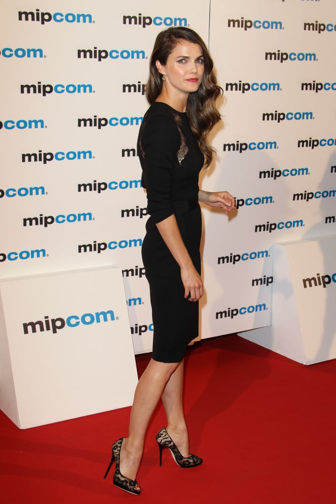 Keri Russell channeled her sultry side in a lace-inset LBD, complete with lace pumps to match.