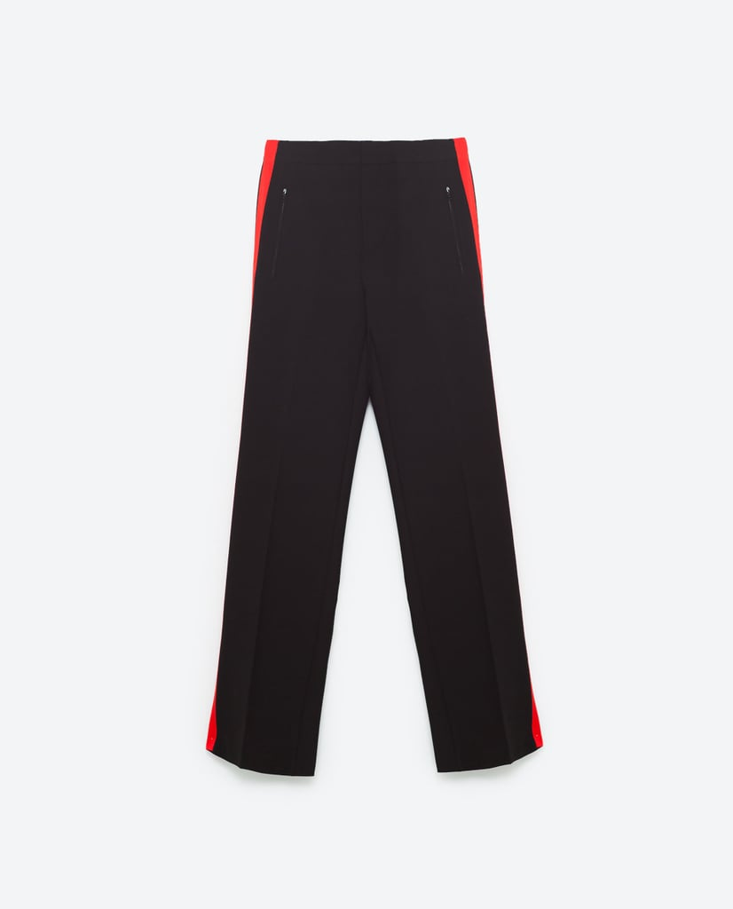 """""""Part track pant, part sleek trouser, these Zara pants ($99) will quickly replace the jeans in your closet. I plan to wear them with my sneakers and my favorite camel coat for a new update on Fall casualwear."""" — HWM"""
