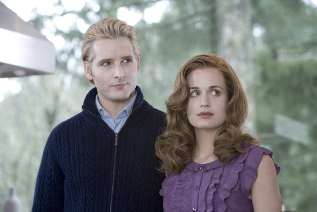 Carlisle, whose physical age is 23, is technically with an older woman, since wife Esme became a vampire at 26.