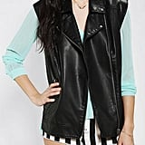 Is it possible that the leather vest ($30, originally $79) is even tougher than the moto jacket?