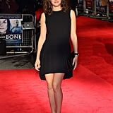 Marion Cotillard in Black Dior Minidress