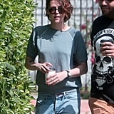 Kristen Stewart made a Friday coffee run with her friends in LA.