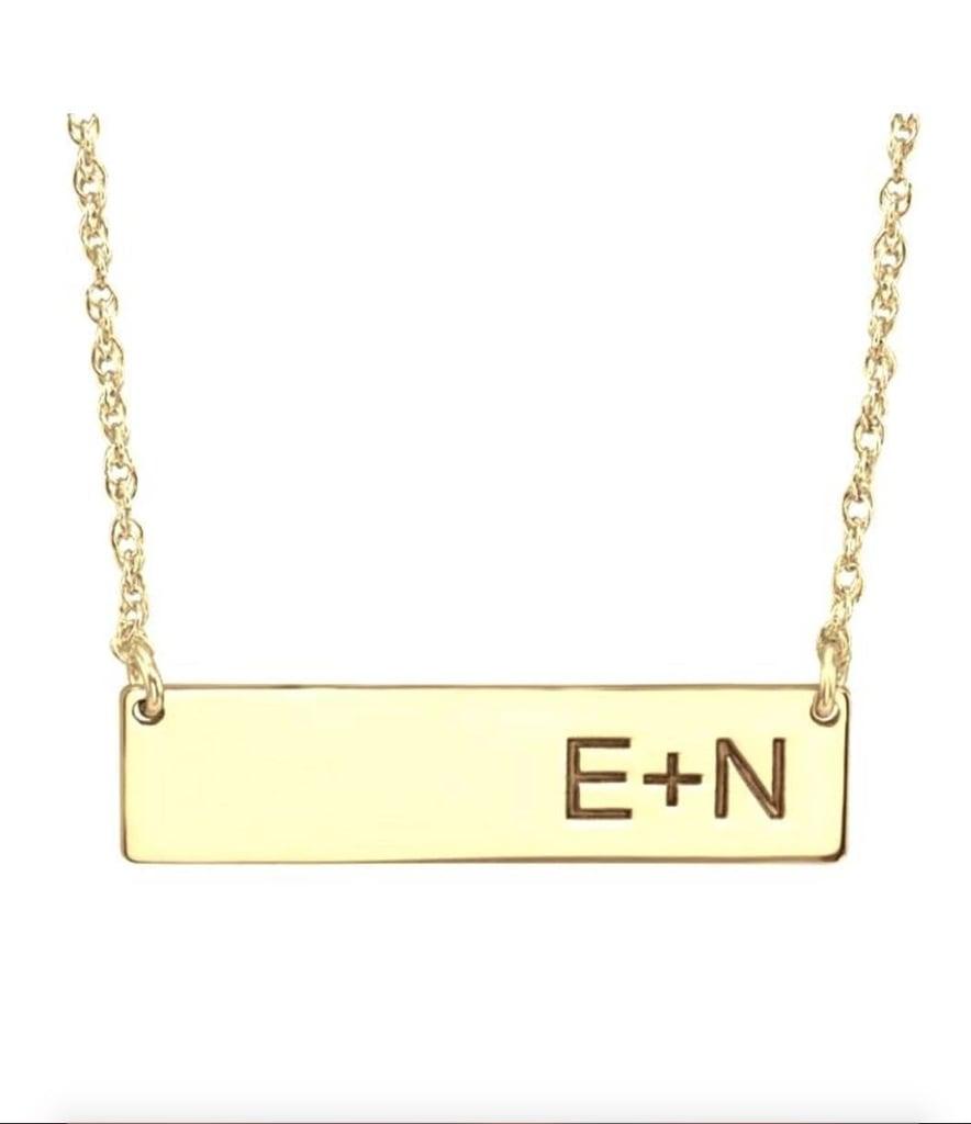 Shoptiques A & I Bar Initial Necklace